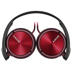 Sony MDRZX310 Foldable Headphones - Metallic Red