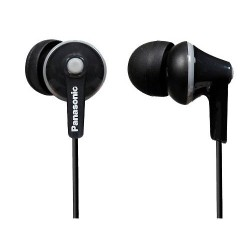 Panasonic RP-HJE125E-K Ergo Fit In-Ear Headphone - Black