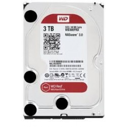 WD Red 3TB NAS Desktop Hard Disk Drive - Intellipower SATA 6 Gb/s 64MB Cache 3.5 Inch