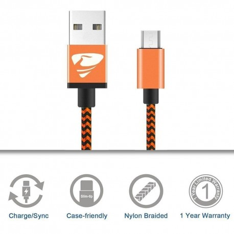Micro USB Cables 2m/6.6ft Rephoenix Android Cable