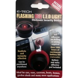 E-Tech Flashing Red LED - Dummy Alarm To Deter Thieves