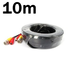 10M / 32.8 Feet BNC Video Power Cable For CCTV - Cable type: 0.2mm² , Cable OD: 4.0mm