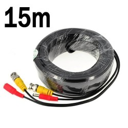 15M / 49.2 Feet BNC Video Power Cable For CCTV Camera - Cable type: 0.2mm² , Cable OD: 4.0mm