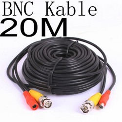 20 Meter CCTV BNC Video and Power Cable Extension Lead 20M - Cable type: 0.2mm² , Cable OD: 4.0mm
