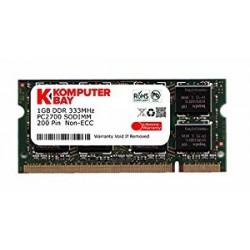 KOMPUTERBAY 1GB DDR SODIMM (200 pin) 333Mhz LAPTOP MEMORY