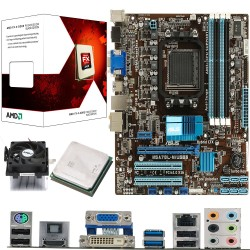 AMD Vishera FX-4300 Quad Core 3.8Ghz, ASUS M5A78L-M USB3 CPU & Motherboard Pre-Built Bundle