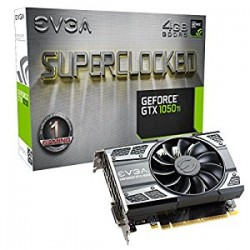 EVGA NVIDIA GeForce GTX 1050 Ti SC (Superclock) GAMING 4 GB Memory Express 3 Graphics Card - Black