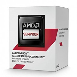 AMD APU Sempron 3850 Quad Core Processor, Socket AM1, 1.30GHz, 2MB, 25W, AMD Radeon HD 8280