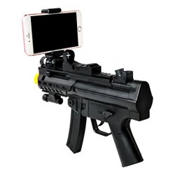 Kids 3D AR Gun Toy - Wishtime ZM17036 Reality Virtual Systerm Electronic Gun with Holder for Iphone Android Cellphone