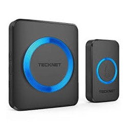 Wireless Doorbell, TeckNet Twin Waterproof Wall Plug-in Cordless Door Chime Kit