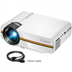 ELEPHAS LED Video Projector, Portable Mini Multimedia Projector Support 1080P Ideal for Home Theatre
